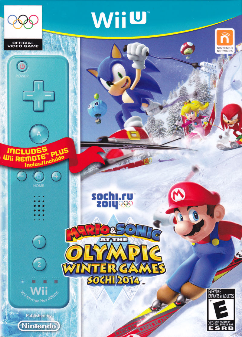 Mario and Sonic Sochi 2014 front cover