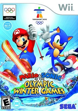 Mario and Sonic Winter Olympic Games 2010 front cover